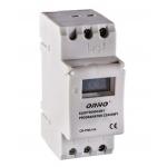 Laiko rėlė (laikmatis) elektroninis, su LCD, 230VAC/50Hz, IP20, max 3680W/16A, ORNO, OR-PRE-414 Time relay