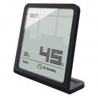 Laikrodis- termometras Selina black Interjero laikrodžiai, metereologinės stotelės