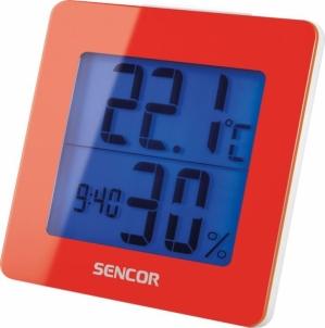 Laikrodis/ žadintuvas Thermometer with alarm clock SENCOR SWS 1500 RD Interjero laikrodžiai