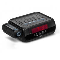 Laikrodis Adler Alarmclock Radio with projector AD 1120 Black, Alarm function Interjero laikrodžiai