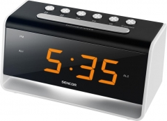 Laikrodis Alarm Clock With LED Night Light SENCOR SDC 4400