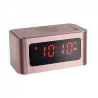 Laikrodis ClipSonic Bluetooth alarm clock speaker TES186P Rose Gold, 5 W Interjero laikrodžiai