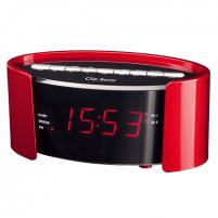 Laikrodis ClipSonic PLL FM alarm clock AR306R Red, Alarm function, Interjero laikrodžiai
