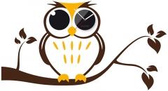 Laikrodis Clocker Owl Interjero laikrodžiai