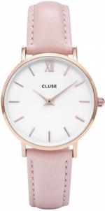 Laikrodis Cluse Minuit Rose Gold White/Pink