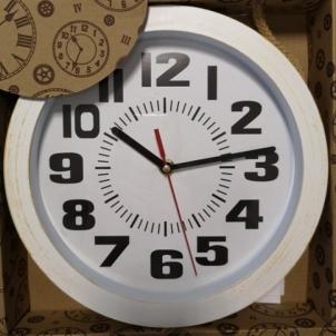 Laikrodis plast. sieninis 25cm BHURAN Interjero laikrodžiai, metereologinės stotelės