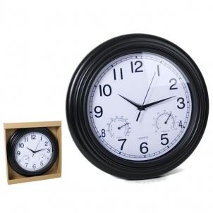 Laikrodis plastikinis sieninis 33cm BRISTOL Interjero laikrodžiai, metereologinės stotelės