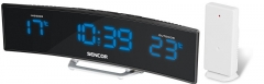 Laikrodis Sencor Budík s teploměrem SWS 212 RC Sienas pulksteņi
