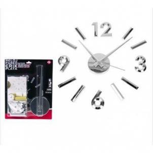 Laikrodis sieninis 60*60cm ERIK sidabro sp. Interjero laikrodžiai
