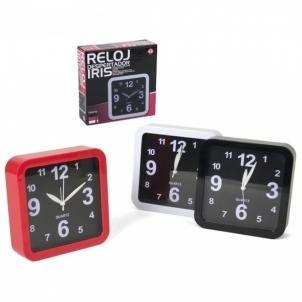 Laikrodis sieninis-žadintuvas 15*15cm IRIS Interjero laikrodžiai, metereologinės stotelės
