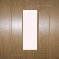 Laminated interior doors MG-DOORS 2050x820x40 mm  left hand (full), oak, with space for glass