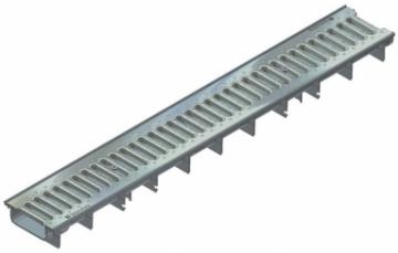 Latakas su cinkuonto plieno juostinėmis grotelėmis RECYFIX STANDARD 100, tipas 60 SW 75/9 Paviršinio vandens surinkimas