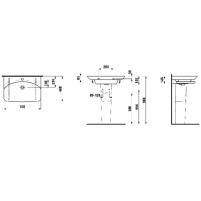 Laufen praustuvas Palace 70x48 cm