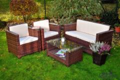 Lauko baldų komplektas CALMO, rudas Lauko baldų komplektai