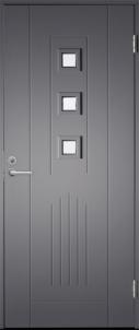 Lauko durys BASIC B0016 80D pilkos 890x2090 mm Metalinės durys
