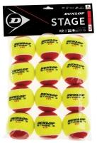 Lauko teniso kamuoliukai STAGE 3 12-polybag Āra tenisa bumbiņas
