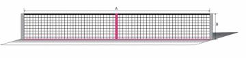 Lauko teniso tinklas ECONOM 12,80x1,08m PA 42x42x3 Lauko teniso tinklai