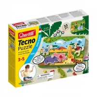 Lavinamasis žaislas 0556 Quercetti Tecno Puzzle Jungla & Savannah