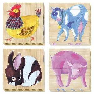 Lavinamasis žaislas 0711 Quercetti T4 Puzzle - Farm деревянный пазл