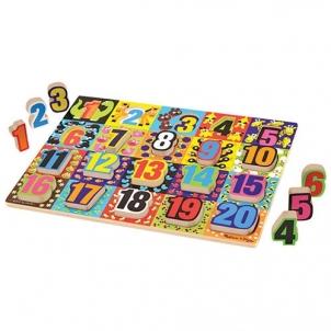 Lavinamasis žaislas Jumbo Numbers Chunky Puzzle