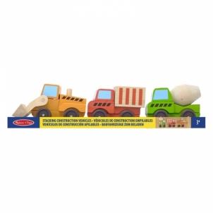 Lavinimo žaislas Stacking Construction Vehicles