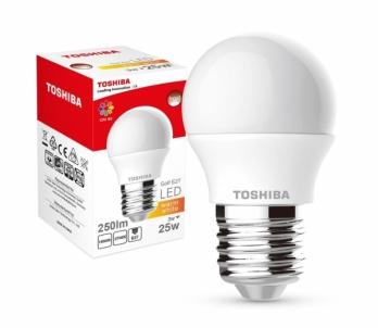 LED lempa TOSHIBA Golf | 3W (25W) 250lm 2700K 80Ra ND E27 Šviesos diodų (LED) lempos