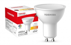 LED lempa TOSHIBA PAR16 | 5,5W (50W+) 450lm 3000K 80Ra ND 120D GU10 Light-emitting diode (led) lamps