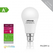 LED lemputė Whitenergy | B22 | 11 SMD2835 | 10W |175-250V šilta balta | A60