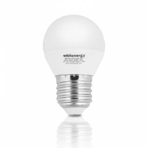 LED lemputė Whitenergy | E27 | 10 SMD3528 | 5W |230V šilta balta | rutulys G45 Lukturu gaismas diodes (led)