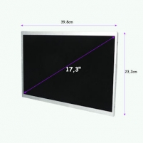 LED matrica Qoltec 17.3 1600*900 GLOSSY - 40Pin, GRADE A+ Monitoru piederumi
