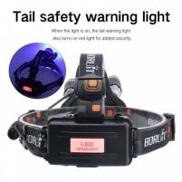 LED Žibintas Ant Galvos BORUiT RJ-3000 UV ir Balta šviesa Prožektoriai, žibintai
