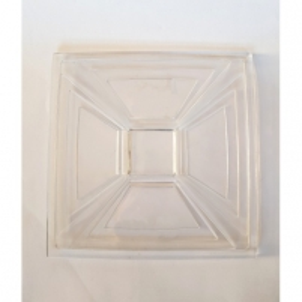 Lėkštė krišt. 24x24cm CASCADE Crystal