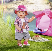 Lėlė 823767 Baby Born Play and Fun Deluxe Camping Outfit