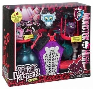 Lėlė BDF06 gyvūnėlų daiktai, monstrų mokykla Monster High Secret Creeper Crept MATTEL