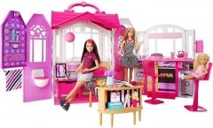 Lėlė CFB65 Mattel Barbie – Carrying Case House & Doll Барби Переносной домик + Кукла