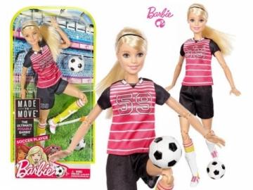 Lėlė DVF69 / DVF68 / DHL81 Mattel Barbie Made To Move Soccer Player