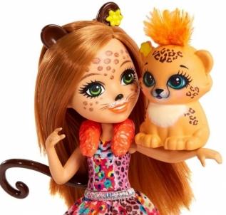 Lėlė FJJ20 / FNH22 Enchantimals Cherish Cheetah Doll MATTEL