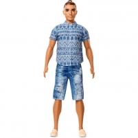 Lėlė FNJ38 Ken® Fashionistas® Doll 13 Distressed Denim - Broad