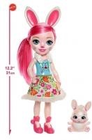 Lėlė FRH52 / FRH51 Enchantimals Huggable Cuties Bree Bunny & Twist 31 cm