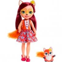 Lėlė FRH53 / FRH51 Mattel Enchantimals Felicity Fox & Flick 31 cm