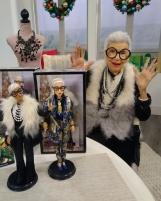 Lėlė FWJ27/FWJ26 Barbie Collector Styled by Iris Apfel Doll MATTEL