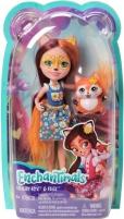 Lėlė FXM71 / DVH87 Enchantimals Felicity Fox Doll Flick Animal Friend Figure, Multicolored MATTEL