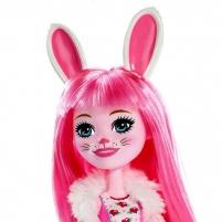 Lėlė FXM73 / DVH87 Enchantimals Bree Bunny Doll and Twist Figure, Multi-Colour MATTEL