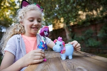 Lėlė GFN56 Enchantimals Hedda Hippo Doll & Lake Animal Figure MATTEL