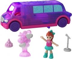 Lėlė GGC41 Mattel Figures set Polly Pocket Pollyville Ice Limousine