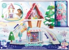 Lėlė GJX50 Enchantimals mattel Ski Chalet Playset