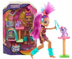Lėlė GNL95 / GNL94 Cave Club Wild About Cats Playset with Roaralai Doll and Pet
