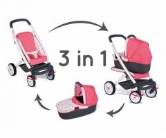 Lėlės vežimėlis | 3in1 Maxi Cosi Quinny 2018 | Smoby