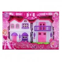 Lėlių namelis Pink Villa with light music Toys for girls