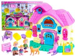 Lėlių namelis su baldais